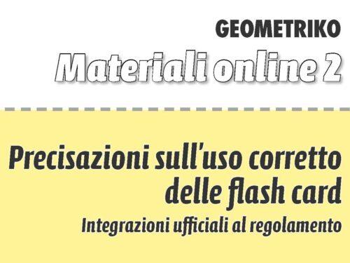Flash Card: Istruzioni/Consigli per l'uso