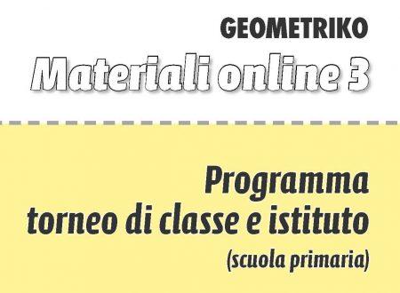 Programma Torneo di Classe e Istituto Scuola Primaria