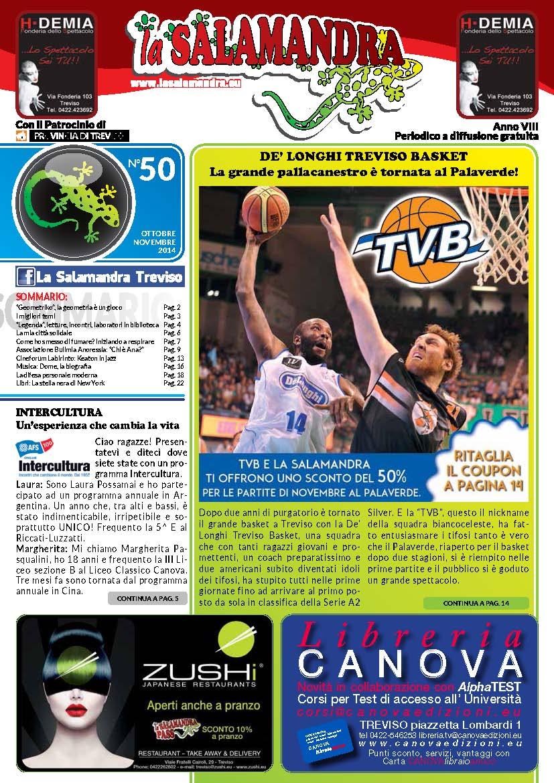 Rassegna Stampa su Geometriko / Salamandra Treviso n°50 - Novembre 2014