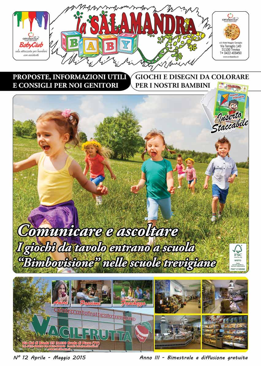 Rassegna Stampa su Geometriko / Salamandra Baby n°12 - Aprile 2015